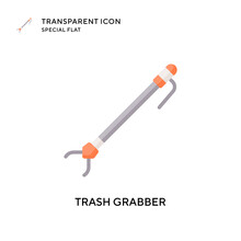 Trash Grabber Vector Icon. Flat Style Illustration. EPS 10 Vector.