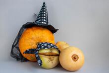 The Concept Of Halloween. Oran...