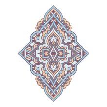 Mandala Icon. Outline Hand Dra...