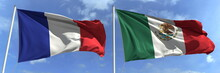 Flags Of France And Mexico On ...