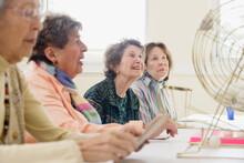Elderly Women Playing Bingo