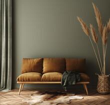Modern Dark Green Home Interio...