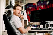 Portrait Of Male Computer Prog...