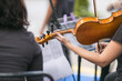 string orchestra playing a concert