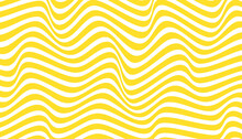 Beautiful Yellow Wavy Lines Background, Abstract Pattern, Smooth And Soft, Used For Poster Backgrounds, Banners, Templates And Others