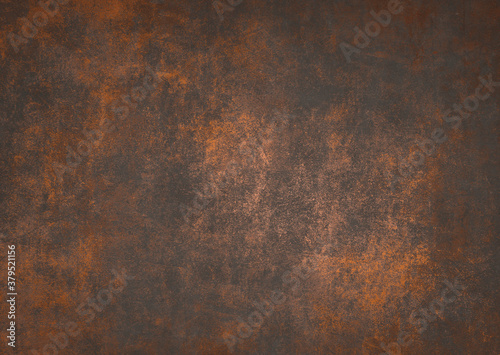 Old rusty concrete metal texture background, Vintage grunge metal backdrop For a Fotobehang