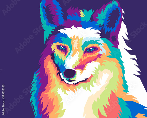 Tablou Canvas amazing wolf animal