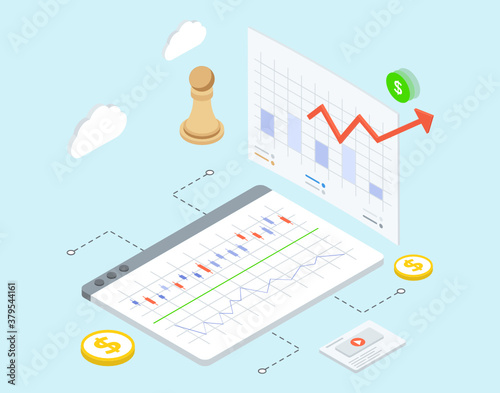 Trading strategies vector design, business plan