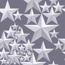 Seamless Abstract Pattern With Five-pointed Stars. Holiday Pattern. High Quality Seamless Realistic Texture.