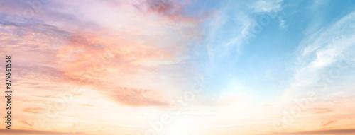 Fototapeta Amazing panorama  Colorful sky and Dramatic Sunset obraz