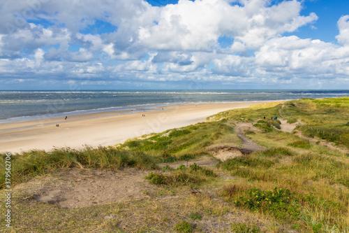 Obraz na plátně Beach at Blåvand, Jutland, Denmark