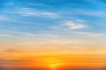 Sunset colorful sky for sunset nature background
