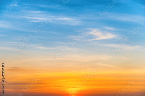 Fototapeta Sunset colorful sky for sunset nature background obraz