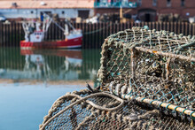 Crab Pots In The Quayside In S...