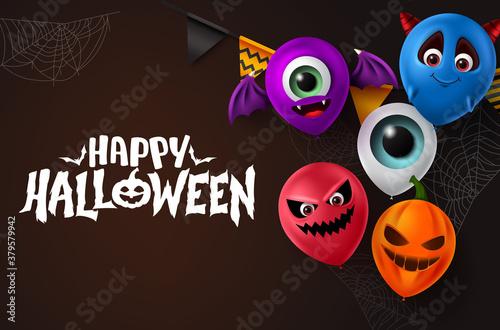 Valokuva Happy halloween vector background design