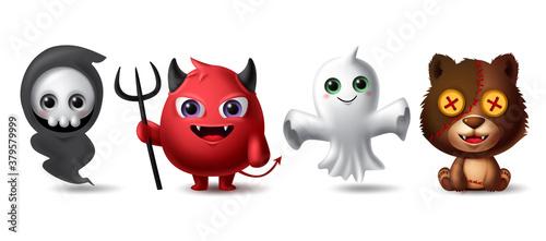 Fotografija Halloween characters vector set