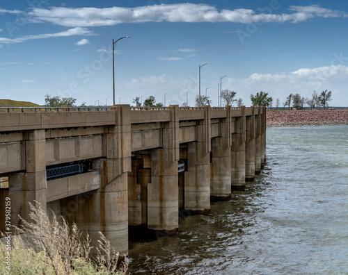 Stampa su Tela Garrison Dam near Bismarck North Dakota is a earth fill embankment dam built by US Army Corp of Engineers between 1947-1953