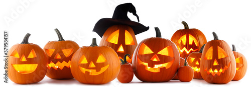 Jack O Lantern Halloween pumpkins - 379584157