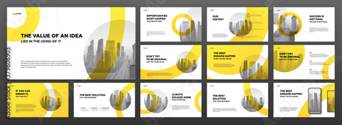 Modern powerpoint presentation templates set Fototapete