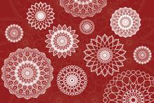 Mandala Card, Elegant, Vintage And Decorative. Wedding Invitation, Thank You Card. Dreamy Gradient Wallpaper With Mandala Pattern.