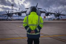 Avión Preparado Para El Despe...