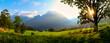 canvas print picture - Bergpanorama mit Blick auf den Watzmann