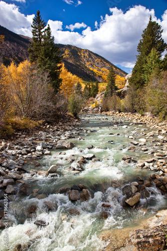 Photo Fall colors abound along a Colorado stream