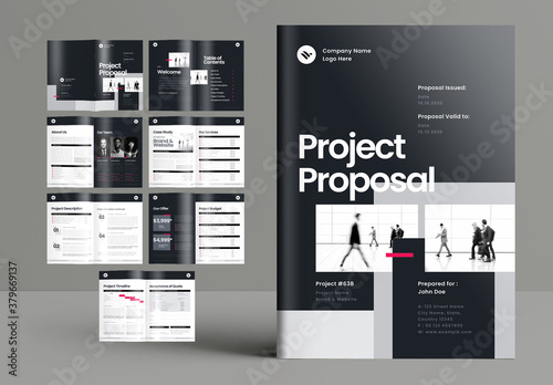 Gray Project Proposal Brochure Layout