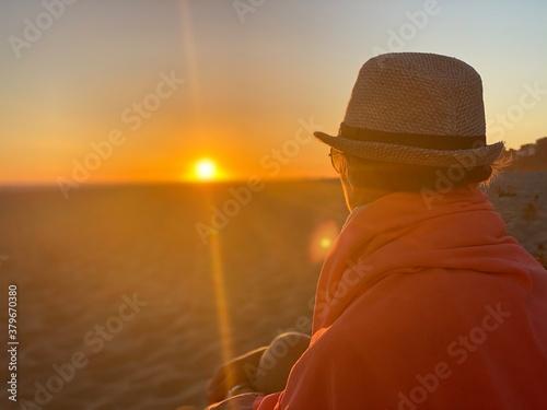 Puesta de sol calma y meditación Tapéta, Fotótapéta
