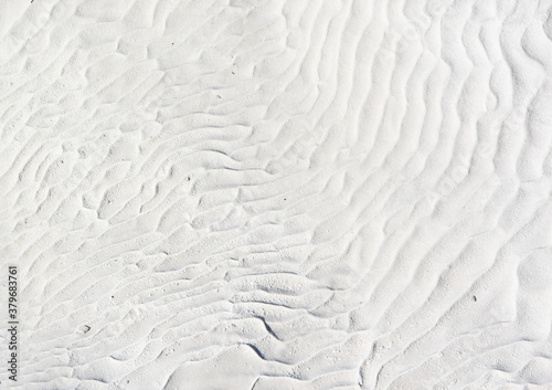 white background with curves and waves of water from the travertines of Pamukkal Canvas Print