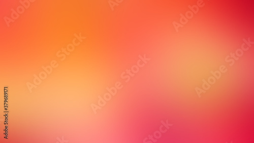 abstract background art colors,bokeh and blur,color Red orange Fotobehang