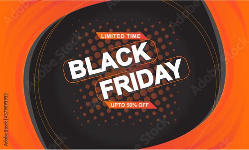 Fototapeta Black Friday flat design limited offer in Free Vector