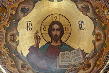 Fresco Of Jesus Christ. Church...