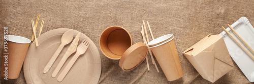 Foto Eco craft paper tableware.