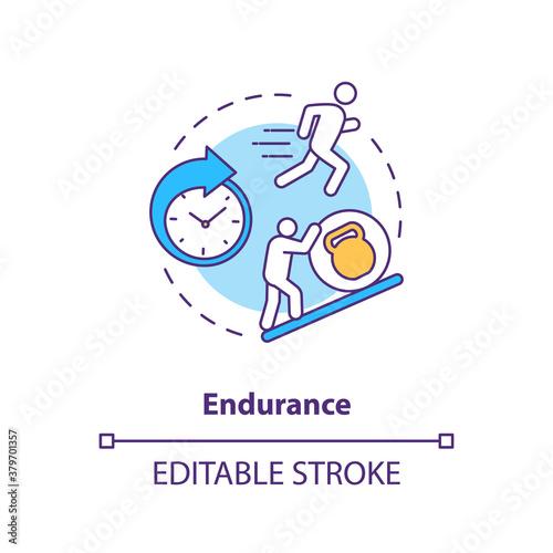 Fototapeta Enhance endurance concept icon