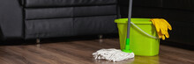 Mop Cleaning Wooden Floor From...