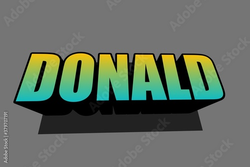 Obraz na plátně This is 3d donald illustration