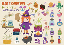 Witch Potions And Ingredients