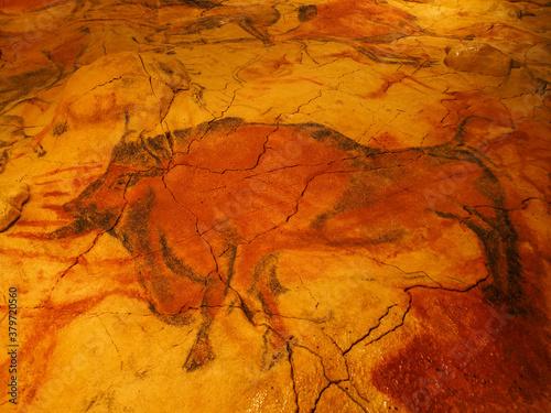 Rupestre painting in neo cave of altamira