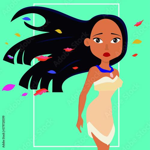 Fotomural Disney's Pocahontas princess Collection vector
