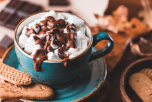 Close-up Of Hot Chocolate With...