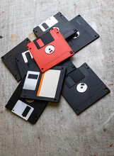 Old Floppy Disks Isolated On S...