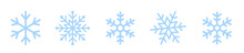Snowflakes Icons Set. Snow Sig...