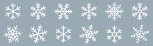 Snowflakes Icons Set. Snow Sign. Snowflakes Template. Snowflake Winter. Snowflakes Icons. Snowflake Vector Icon On White Background.