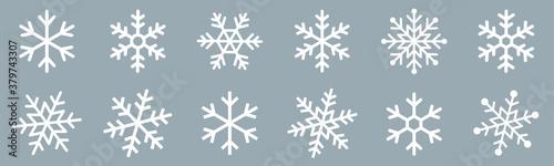 Valokuvatapetti Snowflakes icons set
