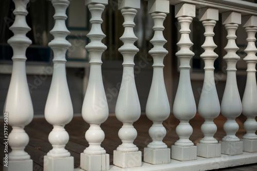 Tela Balusters in the decoration of the veranda railings.