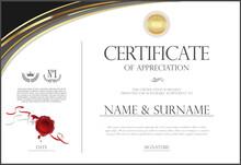 Certificate Retro Design Temp...
