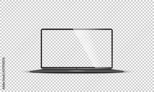 Foto Realistic set of monitor, laptop, tablet, smartphone - Stock Vector illustration
