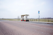 Lonely Busstop In Rural Area