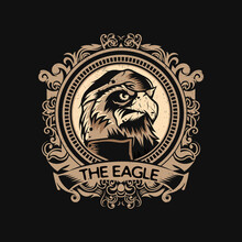 Eagle Logo Template With Vintage Style.